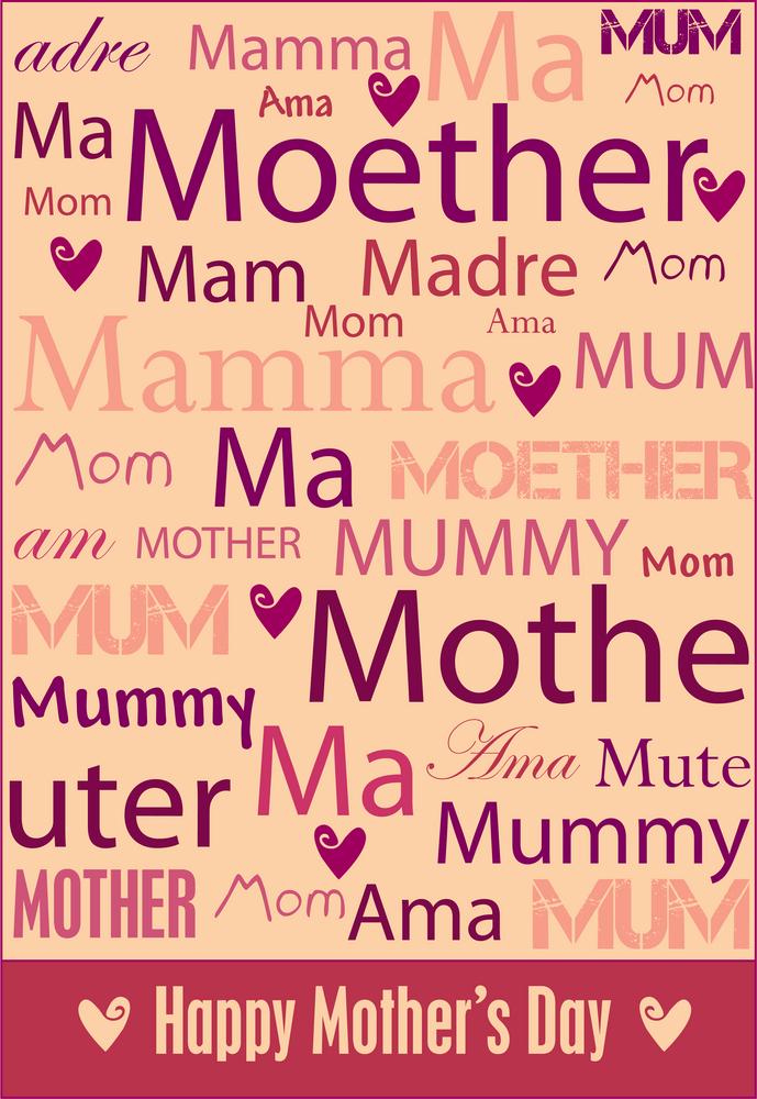 Dimanche, c'est la fête des mères !