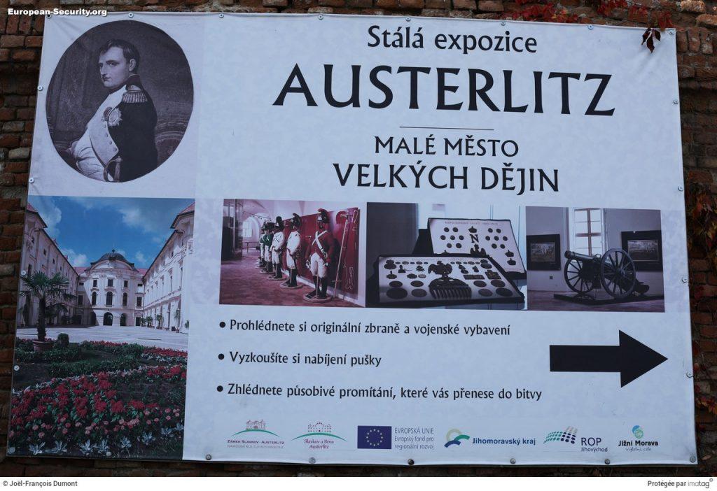 Exposition au château de Slavkov (Austerlitz) en Moravie du sud