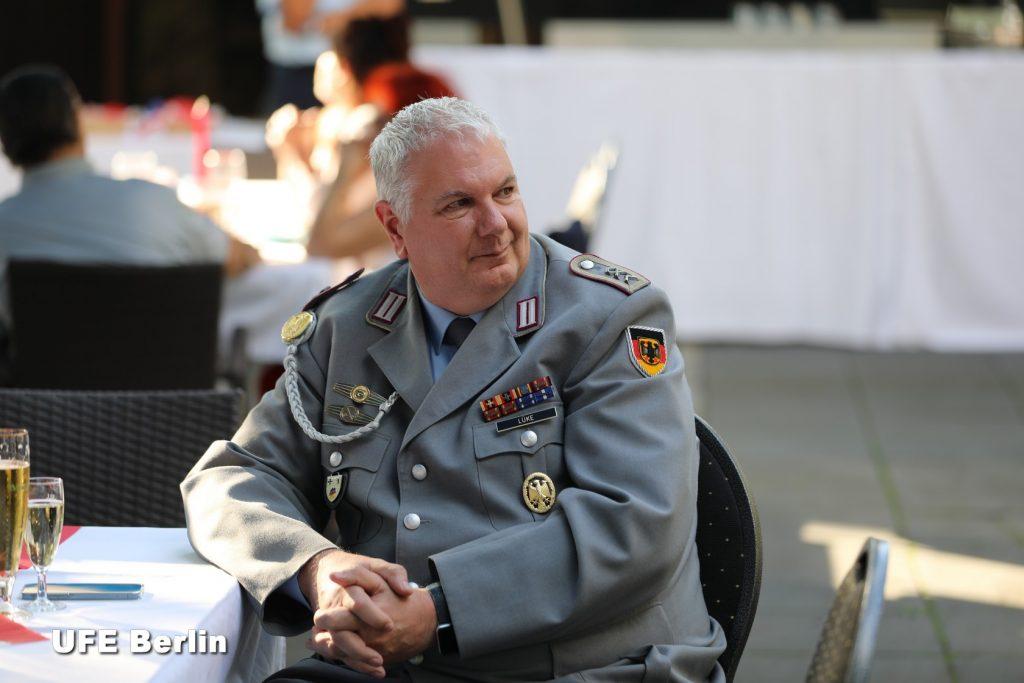 Adjudant Martin Lüke, président du Cercle des sous-officiers (Casino) - Photo © Joël-François Dumont