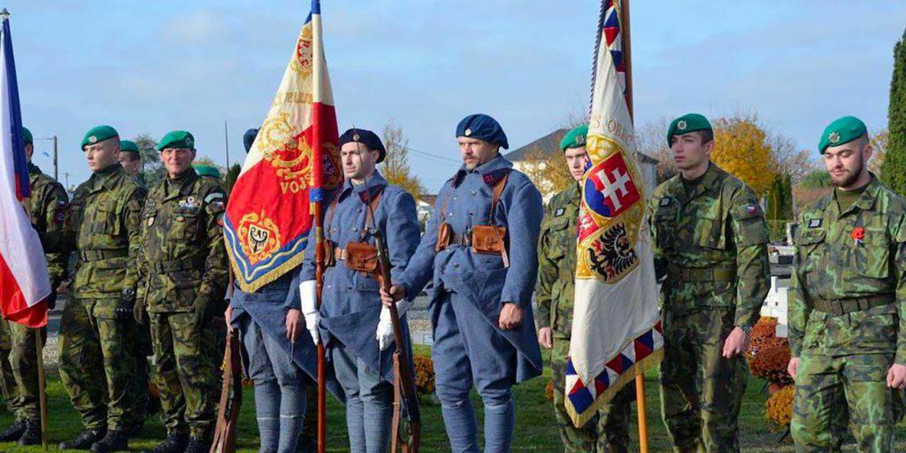 Honneur aux légionnaires tchéco-slovaques - Photo Ville de Cognac (2018)
